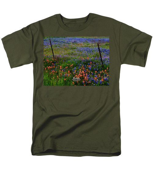 Bluebonnets #0487 Men's T-Shirt  (Regular Fit) by Barbara Tristan
