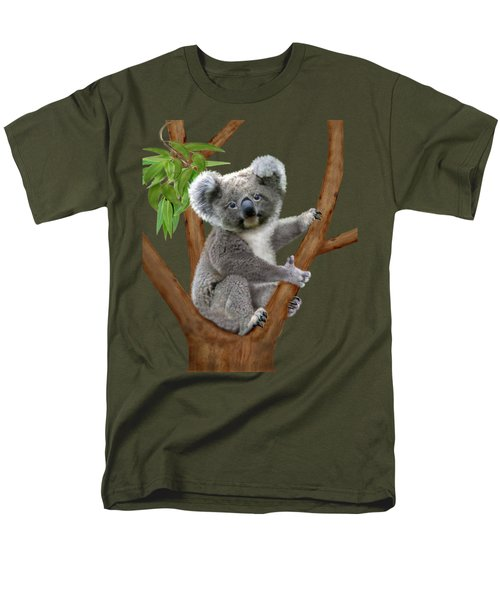 Blue-eyed Baby Koala Men's T-Shirt  (Regular Fit) by Glenn Holbrook