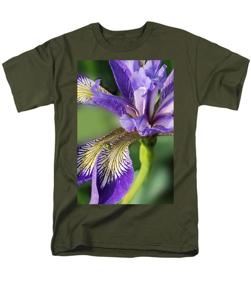 Men's T-Shirt  (Regular Fit) featuring the photograph Blue Flag  by Susan Capuano