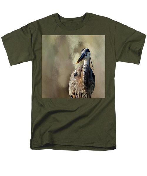 Blue Heron Men's T-Shirt  (Regular Fit) by Cyndy Doty