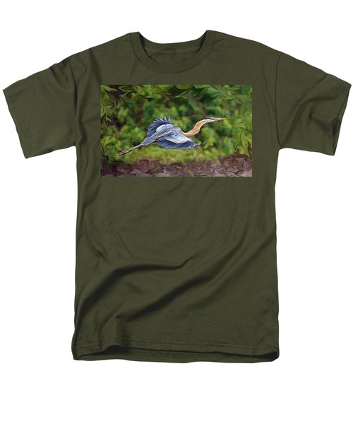 Men's T-Shirt  (Regular Fit) featuring the photograph Blue Heron Flight by Shari Jardina
