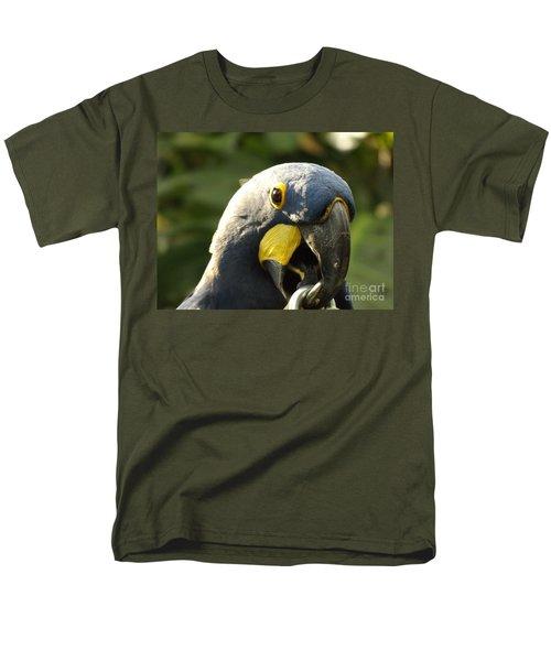 Blue Parrot Men's T-Shirt  (Regular Fit) by Erick Schmidt