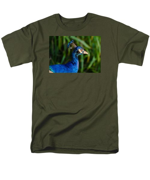 Blue Peacock Men's T-Shirt  (Regular Fit) by Daniel Precht