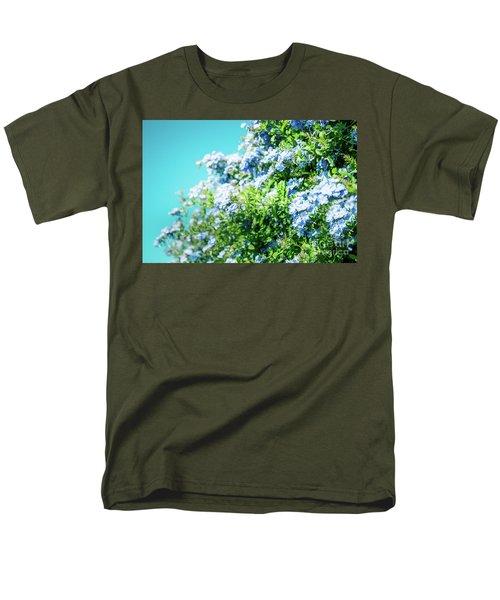 Blue Plumbago Maui Hawaii Men's T-Shirt  (Regular Fit) by Sharon Mau