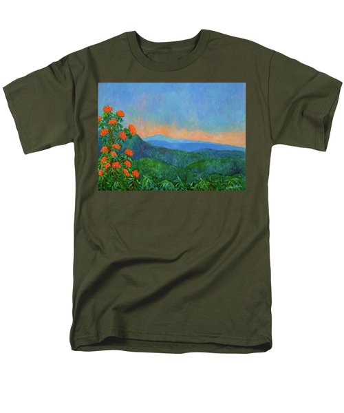 Blue Ridge Morning Men's T-Shirt  (Regular Fit) by Kendall Kessler