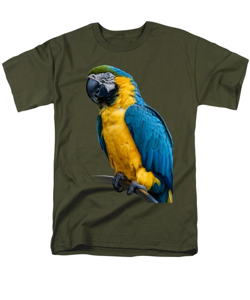 Blue Yellow Macaw No.1 Men's T-Shirt  (Regular Fit) by Mark Myhaver