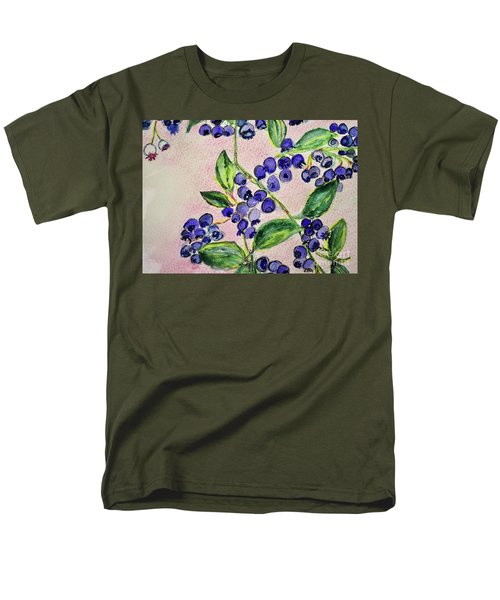 Men's T-Shirt  (Regular Fit) featuring the painting Blueberries by Kim Nelson