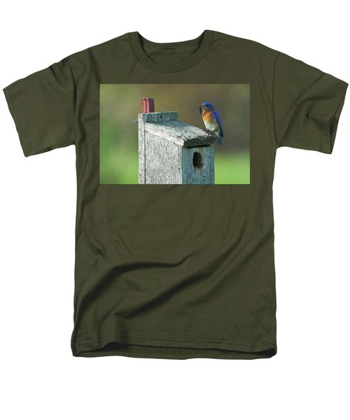 Men's T-Shirt  (Regular Fit) featuring the photograph Bluebird by Steve Stuller
