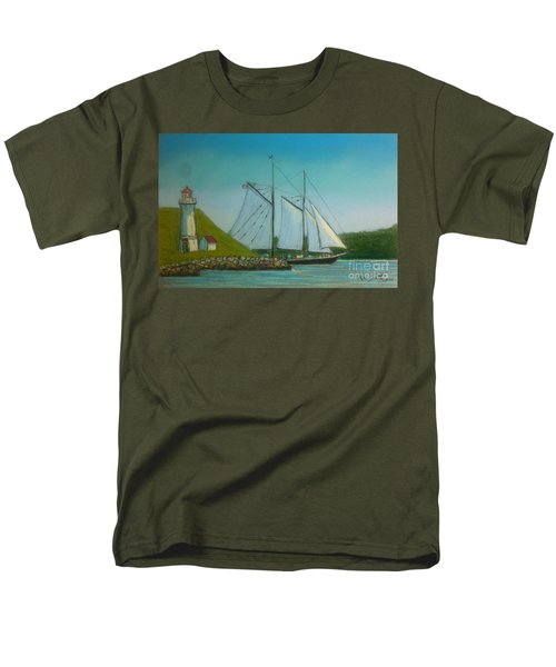 Bluenose Passing Georges Island Men's T-Shirt  (Regular Fit) by Rae  Smith