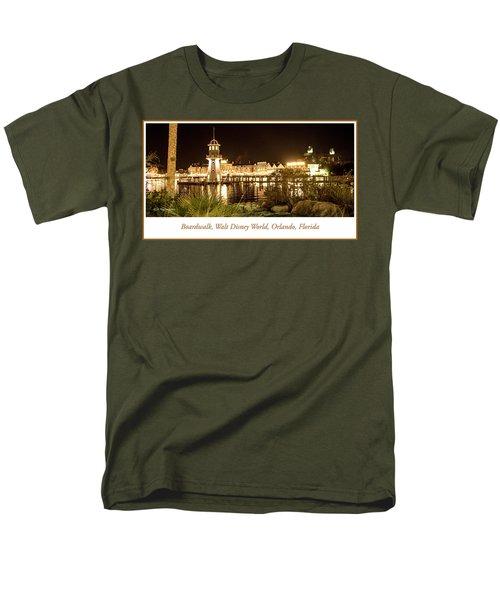 Boardwalk At Night, Walt Disney World Men's T-Shirt  (Regular Fit) by A Gurmankin