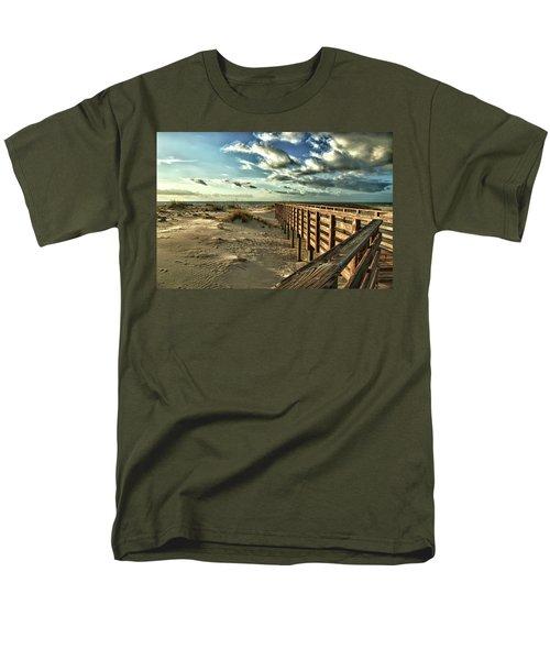 Boardwalk On The Beach Men's T-Shirt  (Regular Fit)