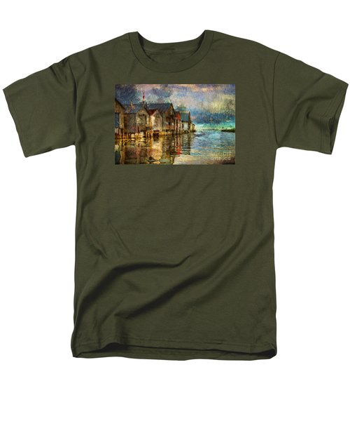 Boat Houses Men's T-Shirt  (Regular Fit) by Jim  Hatch