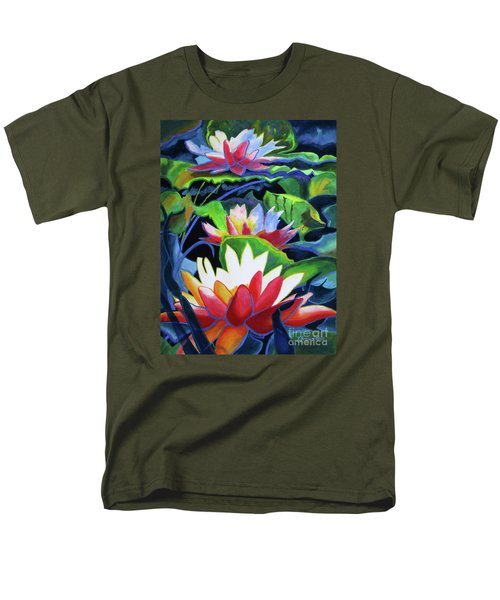 Men's T-Shirt  (Regular Fit) featuring the painting Bold Lilypads by Kathy Braud