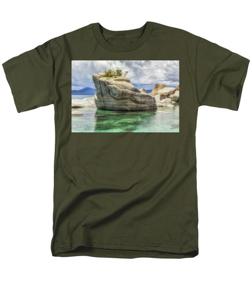 Bonsai Rock And Rain Shower Men's T-Shirt  (Regular Fit) by Marc Crumpler