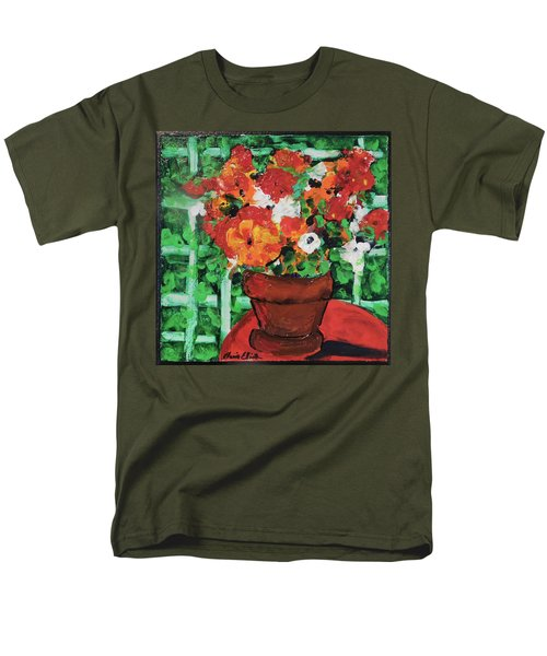 Men's T-Shirt  (Regular Fit) featuring the painting Bouquet A Day Floral Painting Original 59.00 By Elaine Elliott by Elaine Elliott