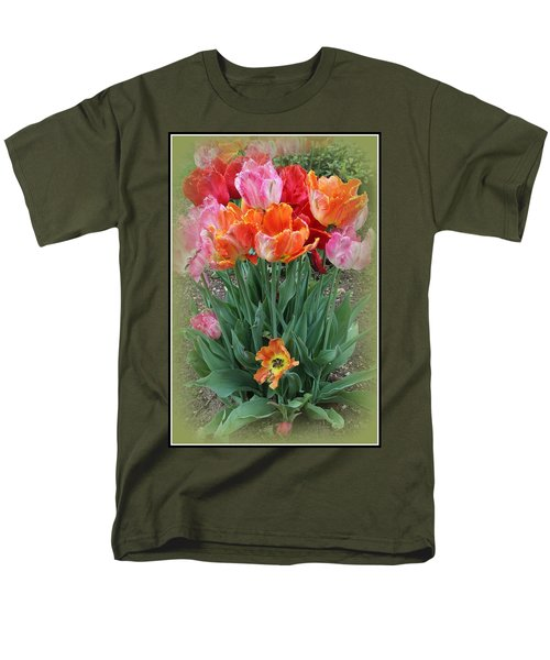 Bouquet Of Colorful Tulips Men's T-Shirt  (Regular Fit) by Dora Sofia Caputo Photographic Art and Design