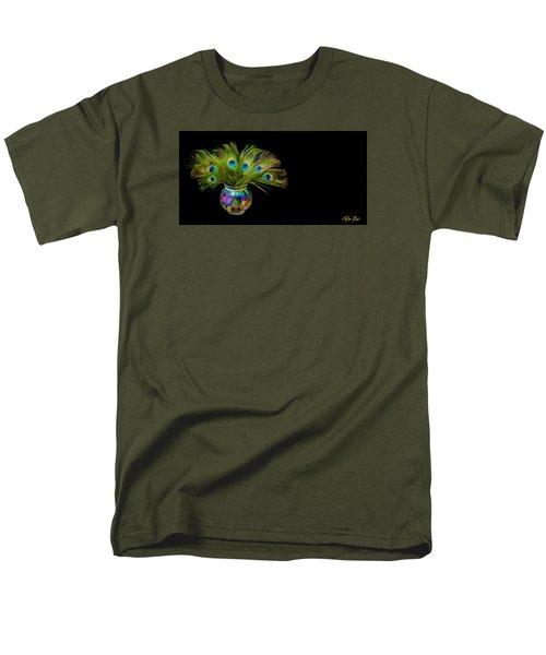 Men's T-Shirt  (Regular Fit) featuring the photograph Bouquet Of Peacock by Rikk Flohr
