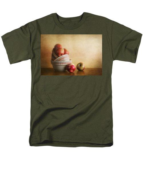 Men's T-Shirt  (Regular Fit) featuring the photograph Bowls And Apples Still Life by Tom Mc Nemar