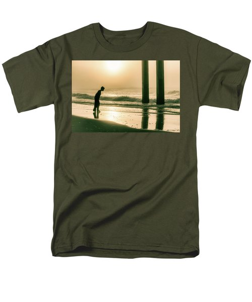 Men's T-Shirt  (Regular Fit) featuring the photograph Boy At Sunrise In Alabama  by John McGraw