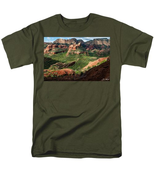 Boynton Canyon 05-942 Men's T-Shirt  (Regular Fit) by Scott McAllister
