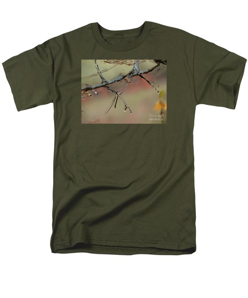 Branch With Water Abstract Men's T-Shirt  (Regular Fit) by Craig Walters