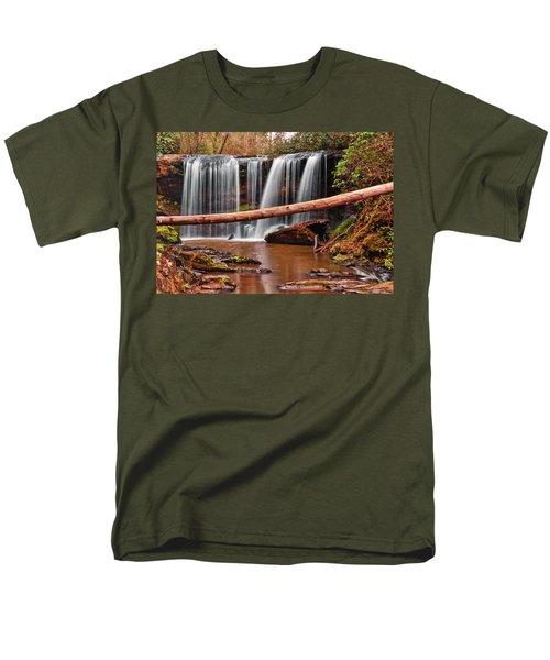 Brasstown Falls 002 Men's T-Shirt  (Regular Fit) by George Bostian