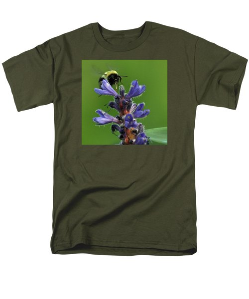 Men's T-Shirt  (Regular Fit) featuring the photograph Bumble Bee Breakfast by Glenn Gordon