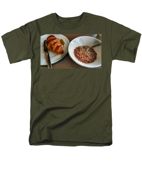 Breakfast Of Cereal And Croissant Men's T-Shirt  (Regular Fit) by Isabella F Abbie Shores FRSA