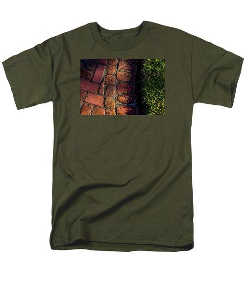 Brick Path In Afternoon Light Men's T-Shirt  (Regular Fit) by Derek Dean