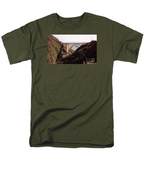 Bridge Highway 1 Coastal Road Men's T-Shirt  (Regular Fit) by Ted Pollard