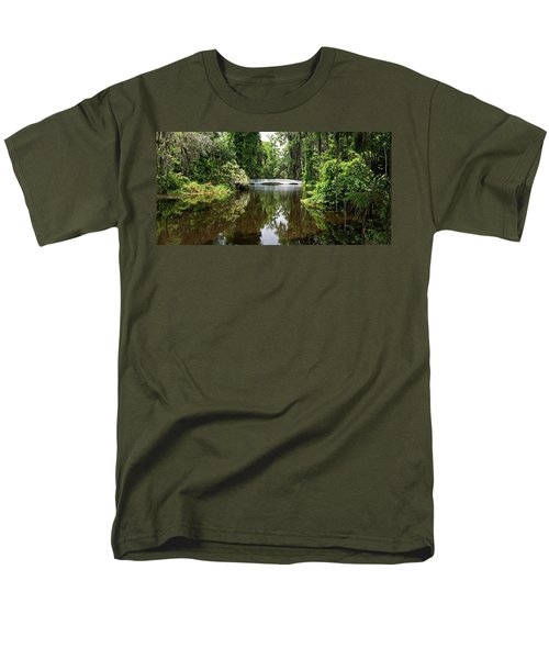 Men's T-Shirt  (Regular Fit) featuring the photograph Bridge In The Garden by Sandy Keeton