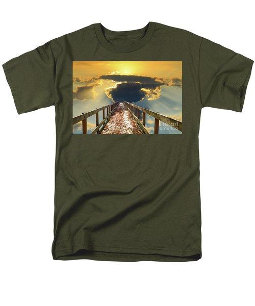 Bridge Into Sunset Men's T-Shirt  (Regular Fit) by Inspirational Photo Creations Audrey Woods