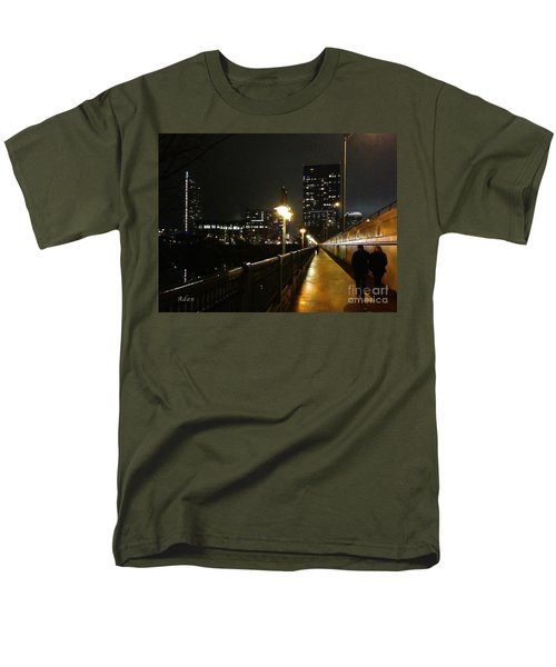 Men's T-Shirt  (Regular Fit) featuring the photograph Bridge Into The Night by Felipe Adan Lerma