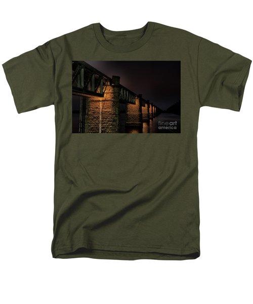 Bridge On Holy River Godavari Men's T-Shirt  (Regular Fit) by Kiran Joshi
