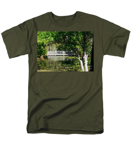 Bridge On Lilly Pond Men's T-Shirt  (Regular Fit) by Lori Mellen-Pagliaro