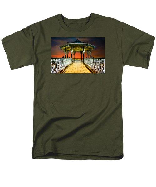 Men's T-Shirt  (Regular Fit) featuring the photograph Brighton's Promenade Bandstand by Chris Lord