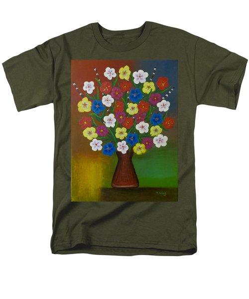 Brilliant Bouquet Men's T-Shirt  (Regular Fit) by Teresa Wing