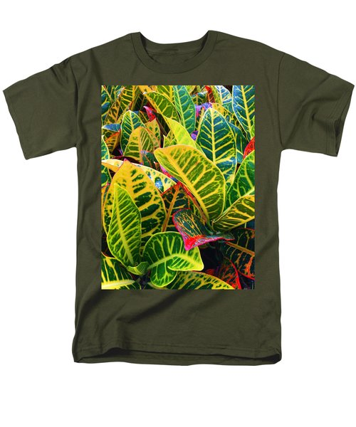 Brilliant Crotons Men's T-Shirt  (Regular Fit) by Kay Gilley