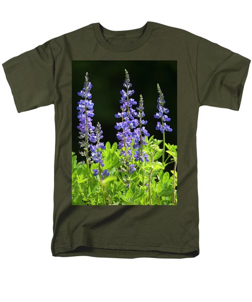 Men's T-Shirt  (Regular Fit) featuring the photograph Brilliant Lupines by Elvira Butler