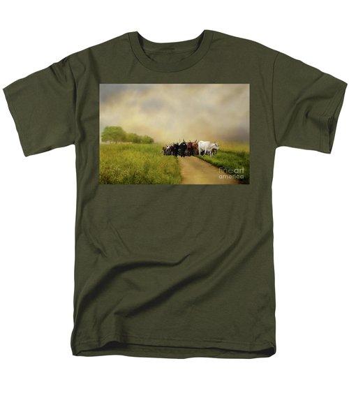 Bringing The Herd Home Men's T-Shirt  (Regular Fit) by Myrna Bradshaw