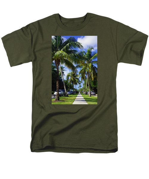 Broad Avenue South, Old Naples Men's T-Shirt  (Regular Fit) by Robb Stan