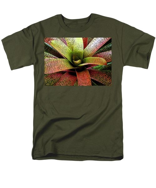 Men's T-Shirt  (Regular Fit) featuring the photograph Bromeliad by Ranjini Kandasamy
