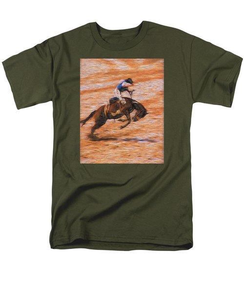 Men's T-Shirt  (Regular Fit) featuring the photograph Bronc Rider by John Freidenberg