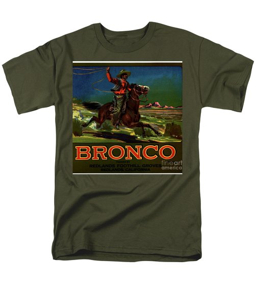 Men's T-Shirt  (Regular Fit) featuring the digital art Bronco Redlands California by Peter Gumaer Ogden