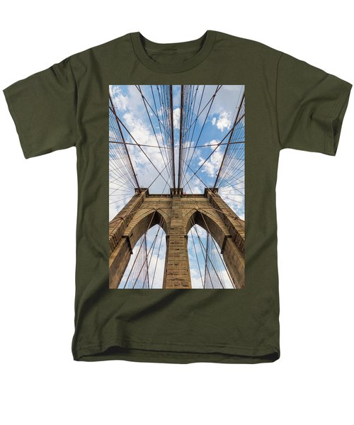 Men's T-Shirt  (Regular Fit) featuring the photograph Brooklyn Bridge 3 by Emmanuel Panagiotakis