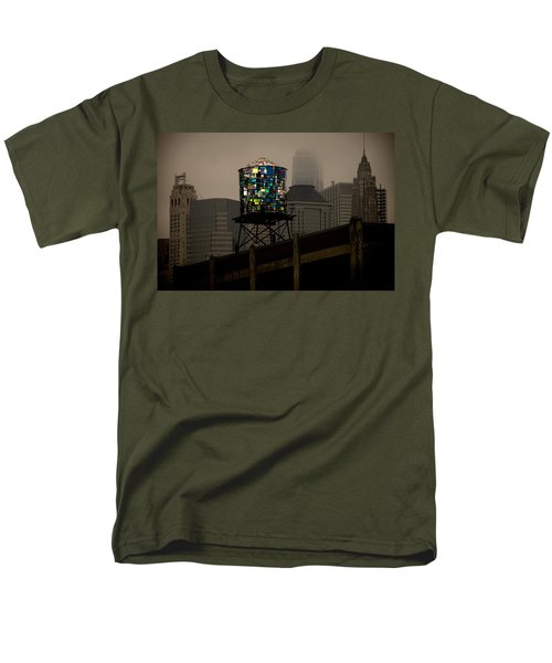 Men's T-Shirt  (Regular Fit) featuring the photograph Brooklyn Water Tower by Chris Lord