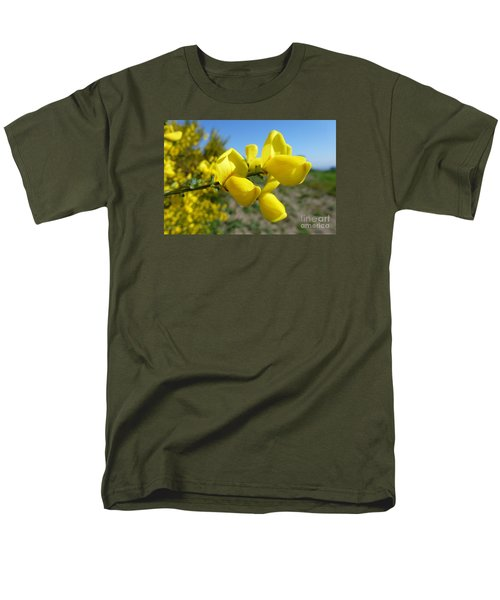 Broom In Bloom 4 Men's T-Shirt  (Regular Fit) by Jean Bernard Roussilhe