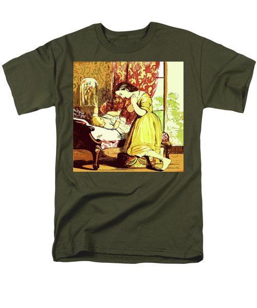 Men's T-Shirt  (Regular Fit) featuring the drawing Brother And Sister by Digital Art Cafe