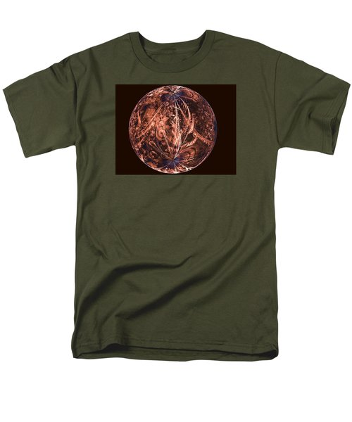 Brown Artificial Planet Men's T-Shirt  (Regular Fit) by Ernst Dittmar