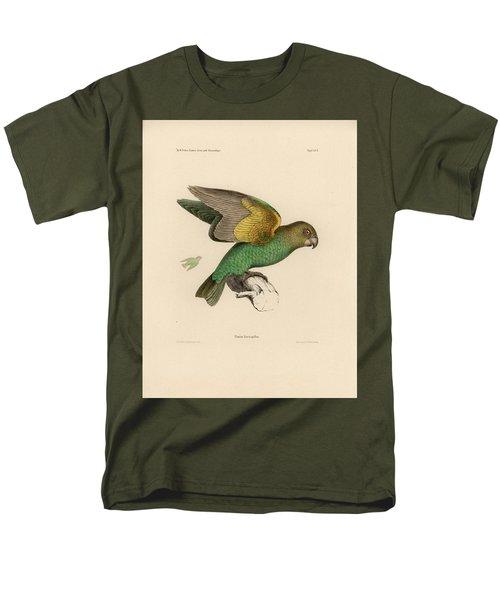 Brown-headed Parrot, Piocephalus Cryptoxanthus Men's T-Shirt  (Regular Fit) by J D L Franz Wagner